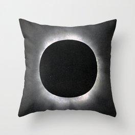 Black Eclipse Throw Pillow