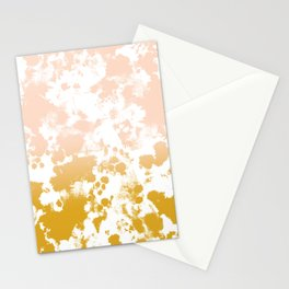 Minimal modern ombre gold to pastel pink abstract art pattern gender neutral Stationery Cards