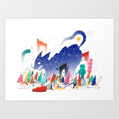 Night Cat Art Print