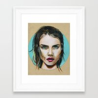 cara Framed Art Prints featuring Cara by Akshay R Depala