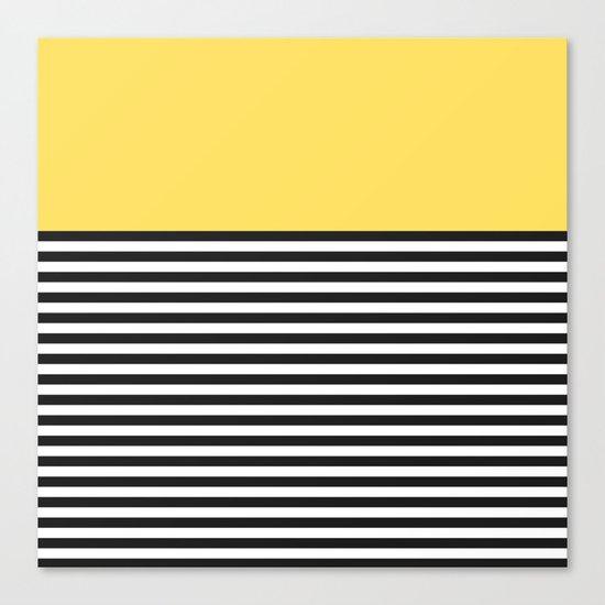 STRIPE COLORBLOCK {LEMON} Canvas Print