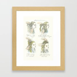 getting the cut that suits you Framed Art Print