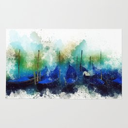Venice Gondola painting Rug