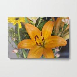 Lilium in Orange Metal Print