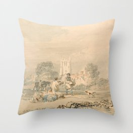 """J.M.W. Turner """"Autumn Sowing of the Grain"""" Throw Pillow"""