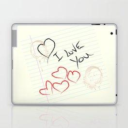 I love you doodle Laptop & iPad Skin