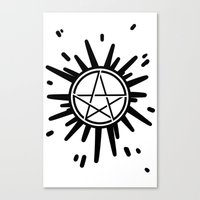 supernatural Canvas Prints featuring Supernatural  by Elisehill3