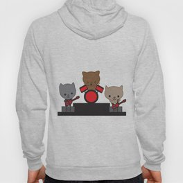 Kitty Cat Kawaii Band usic Hoody