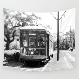 New Orleans St. Charles Streetcar Wall Tapestry