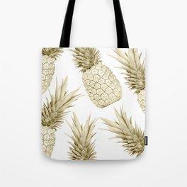 Gold Pineapple Bling Tote Bag