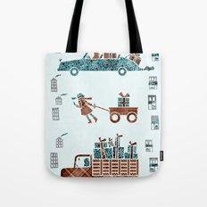 Present Transportation Tote Bag