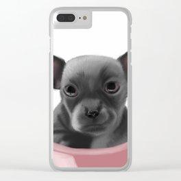 Chihauhau - Sitting Pretty Clear iPhone Case