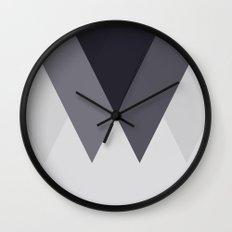Sawtooth Blue Grey Wall Clock