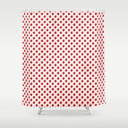 Red Apple Fruit Food Pattern Shower Curtain