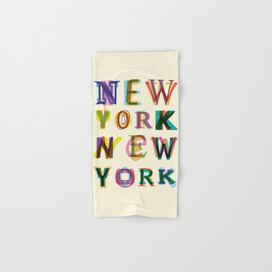 New York New York Hand & Bath Towel
