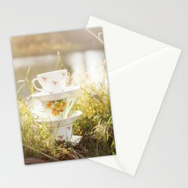 Three lonely teacups Stationery Cards