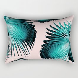 Fan Palm Leaves Paradise #4 #tropical #decor #art #society6 Rectangular Pillow