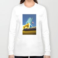 crane Long Sleeve T-shirts featuring crane by dclick