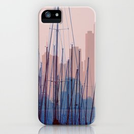 City Harbor Skyline Abstract iPhone Case
