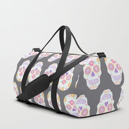Flower Sugar Skull Duffle Bag