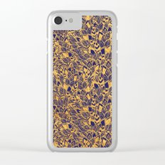 Golden Floral Clear iPhone Case