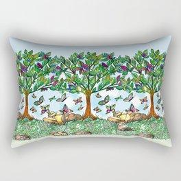 Flutterby Tree Rectangular Pillow