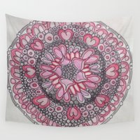 valentine Wall Tapestries featuring Valentine by Fiona Fieldhouse