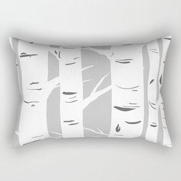 Gray Birches Rectangular Pillow