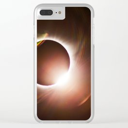 Diamond Ring - Great American Eclipse 2017 Clear iPhone Case