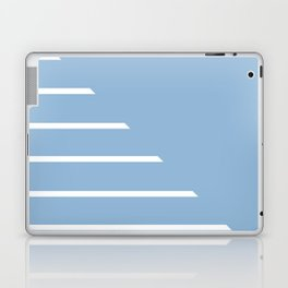 Half Stripes White and Airy Blue Laptop & iPad Skin