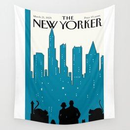 Vintage New Yorker Cover 1925 - Recolored Wall Tapestry