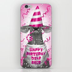 Happy birthday dear deer iPhone & iPod Skin