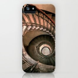 Spiral brown staircase iPhone Case