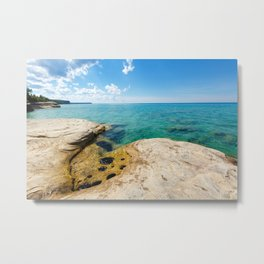 The Coves on Lake Superior - Pictured Rocks Metal Print