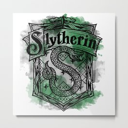 Slytherin Snake Metal Print