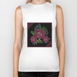 Burgundy roses. Biker Tank