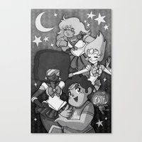 sailormoon Canvas Prints featuring SU SailorMoon by Ravenno