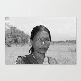 A Tharu Villager Canvas Print