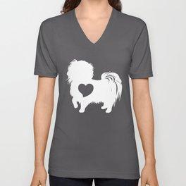 funny black dog lover shirt Unisex V-Neck