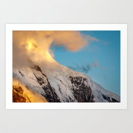 Clouds and Snow Art Print