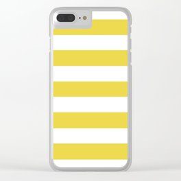 Sandstorm - solid color - white stripes pattern Clear iPhone Case