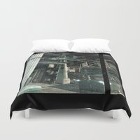 aperture Duvet Covers featuring Stairwell to by Adrian Fvtvrvm