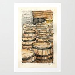 Woodford Reserve Barrels Art Print