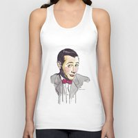 pee wee Tank Tops featuring Pee Wee by Jesse Robinson Williams