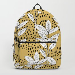 Summer leaves fall is coming garden and raindrops ochre yellow Backpack