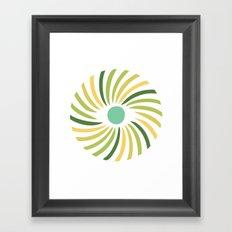 Retro radial eye design Framed Art Print