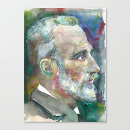 PIERRE CURIE - watercolor portrait Canvas Print