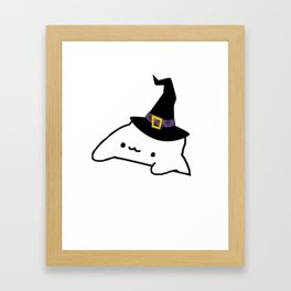 Halloween Bongo Cat Meme Framed Art Print
