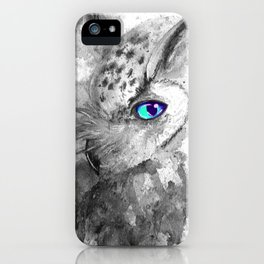 black and white: owl iPhone Case
