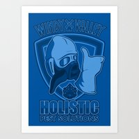 nausicaa Art Prints featuring Windy Valley Holistic Pest Solutions by adho1982